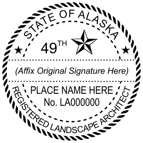 Alaska Landscape Architect Stamp Seal