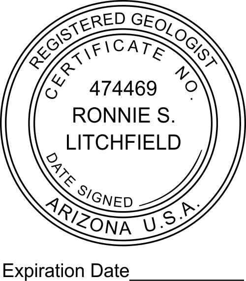 Arizona Geologist Expiration Date Stamp
