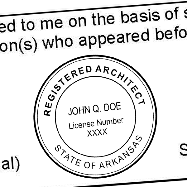 State of Arkansas Architect Seal Imprint