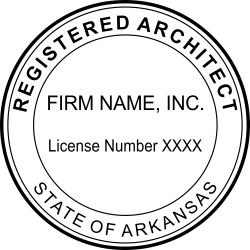 Arkansas Architect Firm Stamp Seal