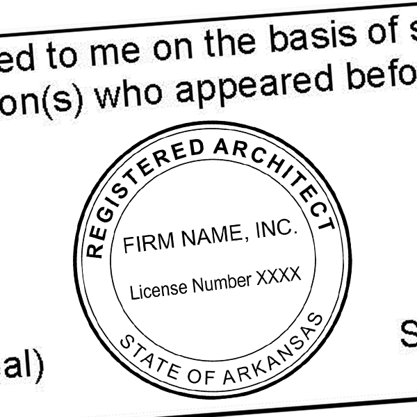State of Arkansas Architectural Firm Seal Imprint