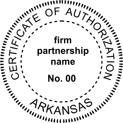 Arkansas Business Authorization Stamp Seal