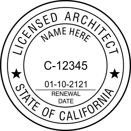 California Architect Stamp Seal