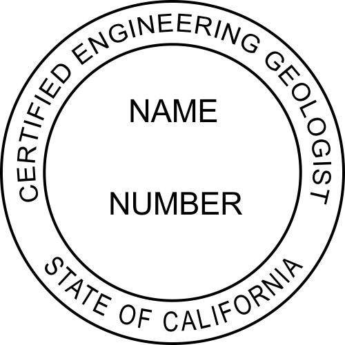 State of California Engineering Geologist Seal