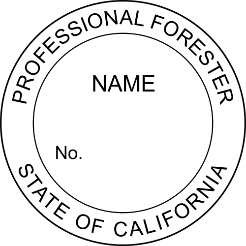 California Forester Stamp Seal