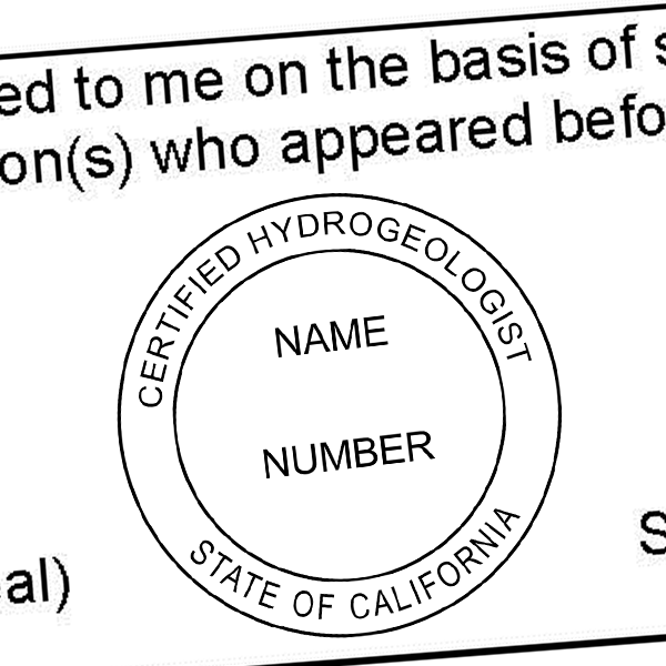 State of California Hydrogeologist Seal Imprint