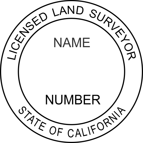 California Land Surveyor Stamp Seal