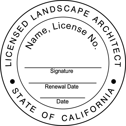California Landscape Architect Stamp Seal
