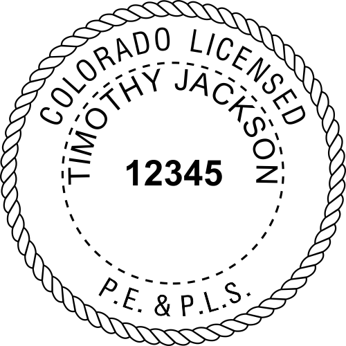 State of Colorado Combined Prof Engineer and Land Surveyor Seal