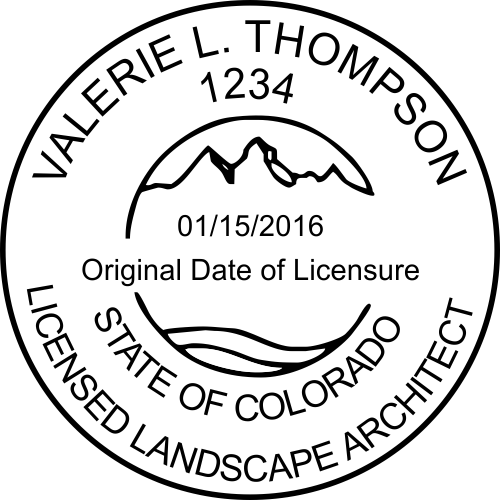 Colorado Landscape Architect Stamp Seal