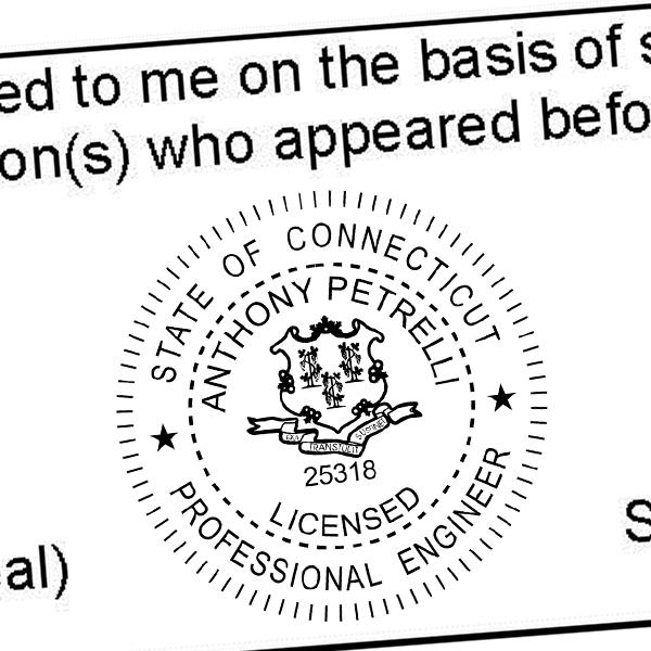 State of Connecticut Engineer Seal Seal Imprint