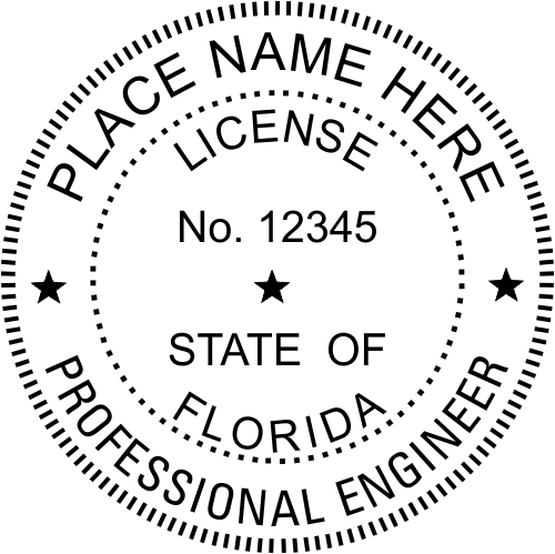 Florida Engineer Stamp Seal
