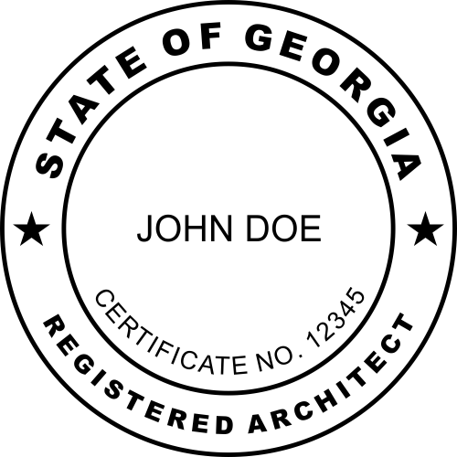 Georgia Architect Seal