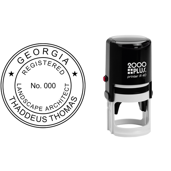State of Georgia Landscape Architect Seal Body and Imprint