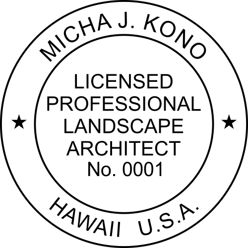 Hawaii Landscape Architect Stamp Seal