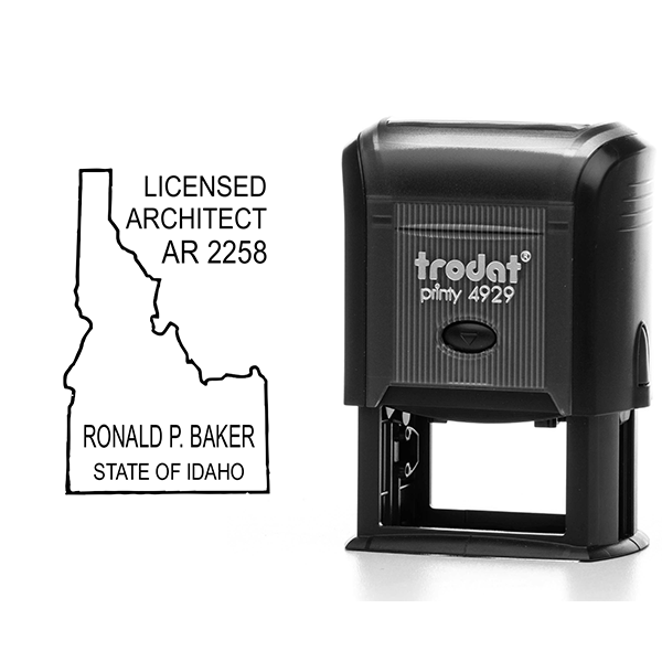 State of Idaho Architect Seal Body and Imprint