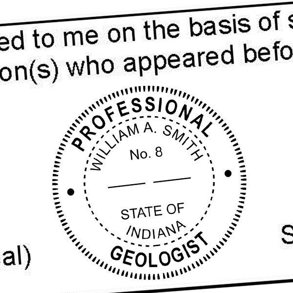 State of Indiana Geologist Seal Imprint