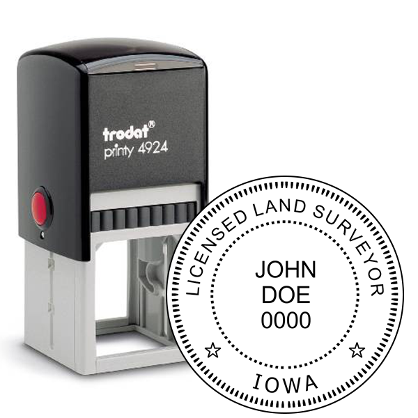 State of Iowa Land Surveyor Embosser