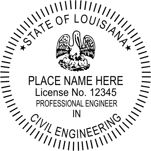 Louisiana Engineer Specialized Discipline Stamp Seal