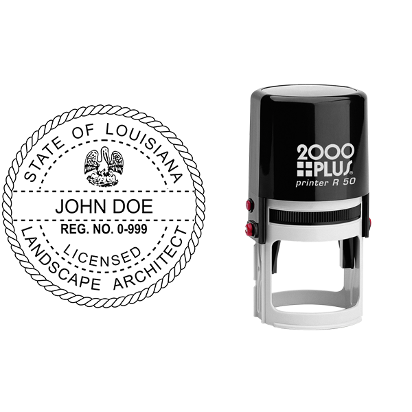 State of Louisiana Landscape Architect Seal Body and Imprint