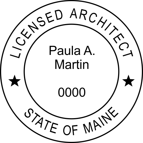 Maine Architect Rubber Stamp