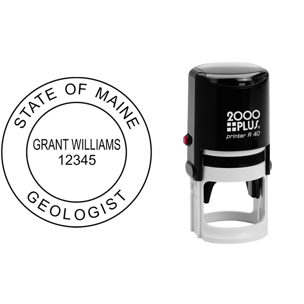 State of Maine Geologist Seal Body and Imprint