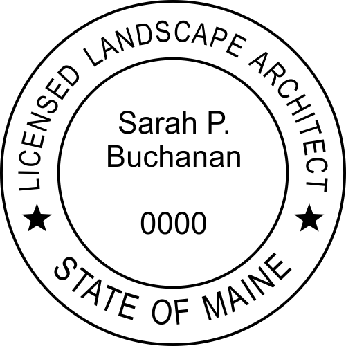 Maine Landscape Architect Rubber Stamp