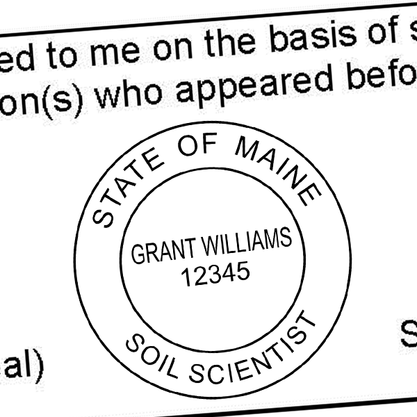 State of Maine Soil Scientist Seal Imprint
