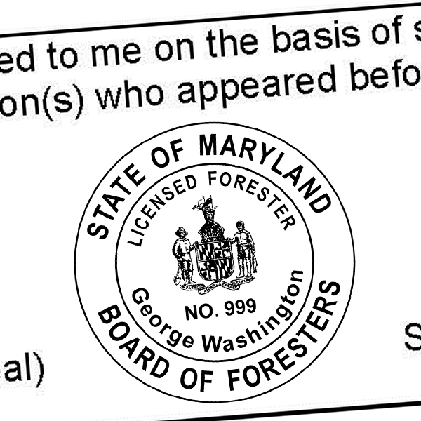 State of Maryland Forester Seal Imprint