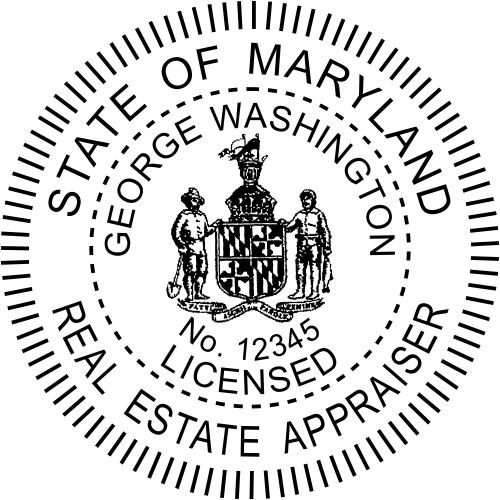 Maryland Real Estate Appraiser Stamp Seal