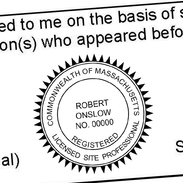 State of Massachusetts Licensed Site Professional Seal Imprint
