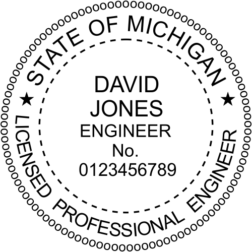 State of Michigan Engineer Seal