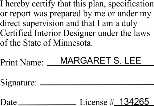 Minnesota document certification interior designer for Certified interior designer