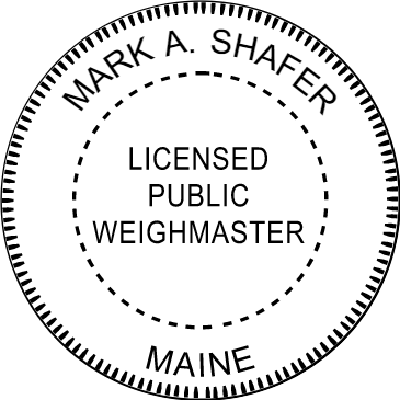 State of Maine Weighmaster