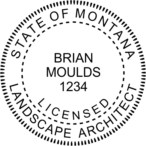 Montana Landscape Architect Stamp