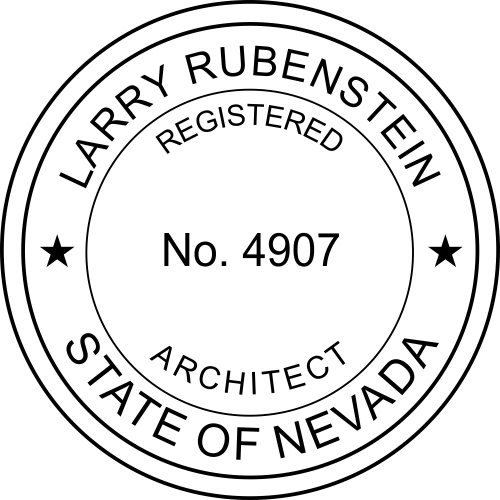 Nevada Architect Stamp Seal