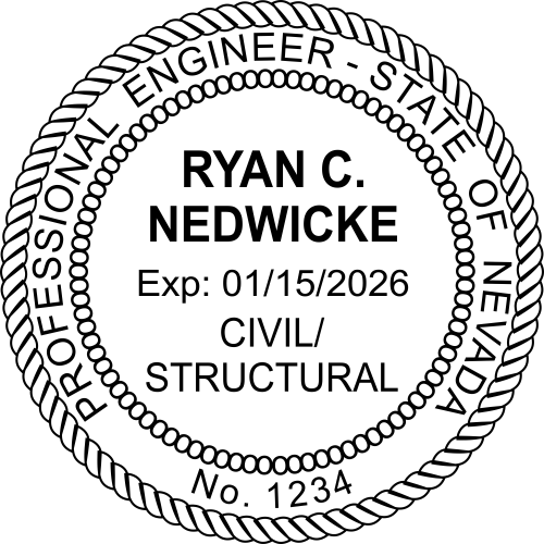Official Nevada Civil & Structual Engineer Stamp & Seal