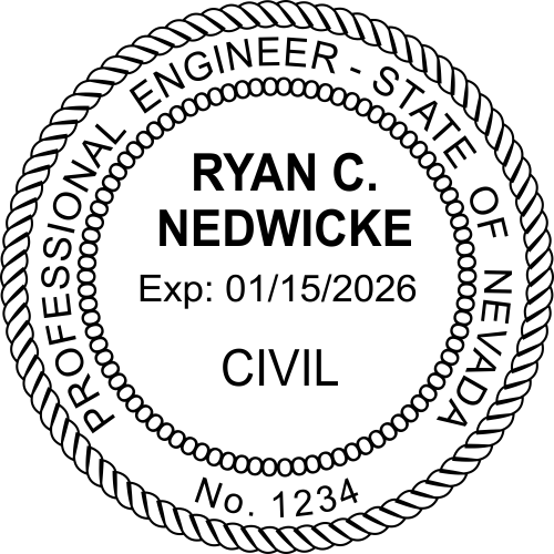 Official Nevada Engineer Stamp & Seal