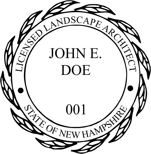 New Hampshire Landscape Architect Stamp Seal