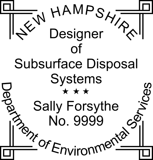 New Hampshire Subsurface Disposal Stamp Seal