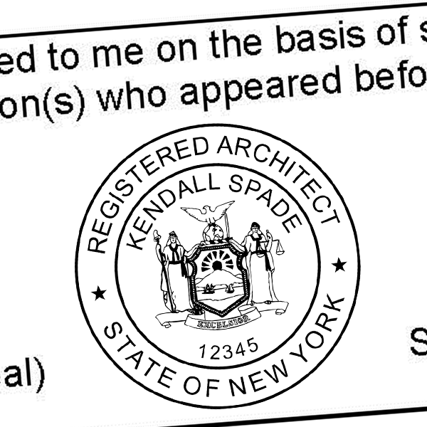 State of New York Architect Seal Imprint