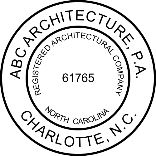 State of North Carolina Architectural Firm Seal