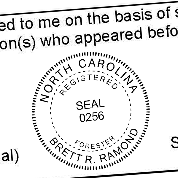 State of North Carolina Forester Seal Imprint