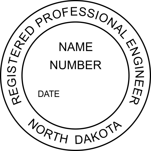 North Dakota Engineer Stamp Seal