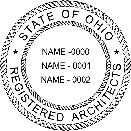 Ohio Architects Three Professionals Stamp Seal