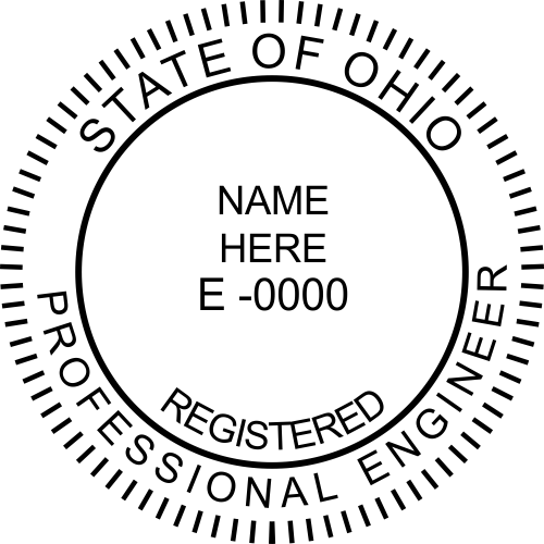 State of Ohio Engineer Stamp Seal