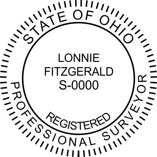 Ohio Surveyor Stamp