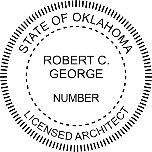 Oklahoma Architect Stamp Seal