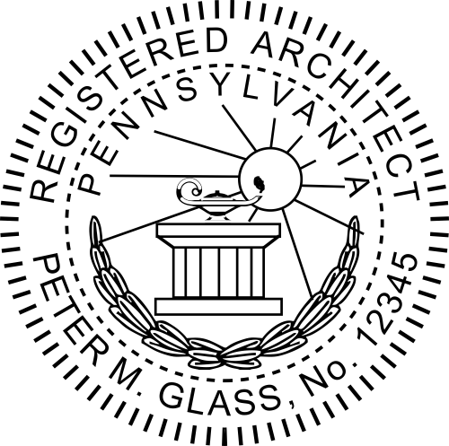Pa State Inspection >> State of Pennsylvania Architect Seal - Simply Stamps