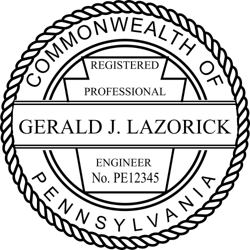 Pennsylvania Engineer Stamp Seal